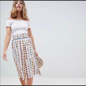 ASOS Petite Flower Midi Skirt 8